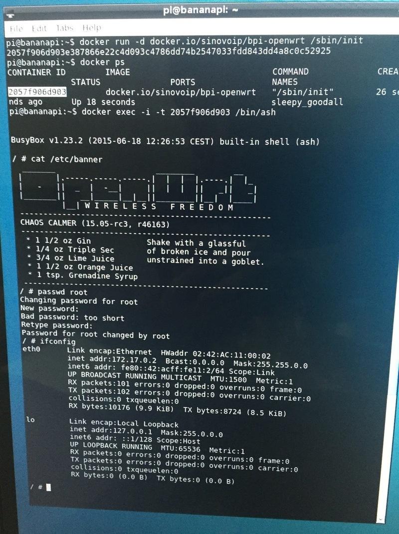 Debian + docker + openwrt running on BPI-R1 - Linux - banana pi