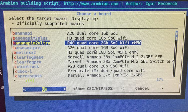 BPI-M2 Ultra/BPI-M2 Berry new image : Armbian Bionic and