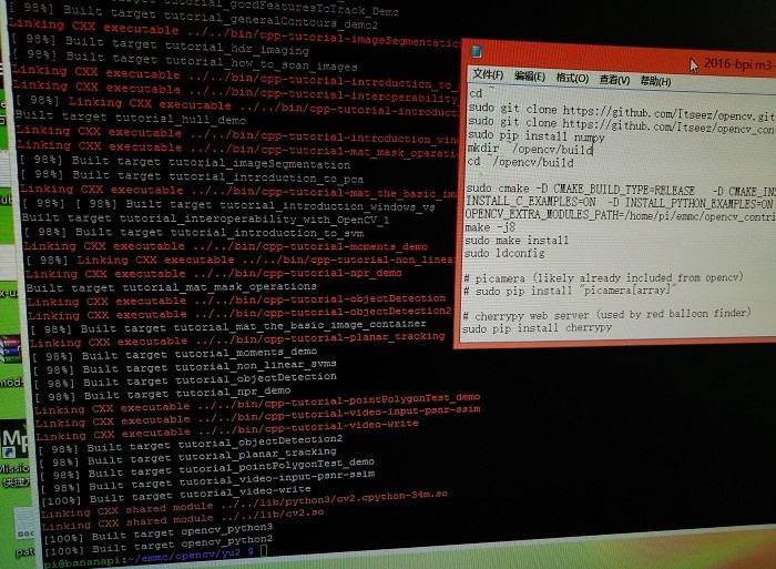 BPI-M3 compile Opencv 3 1 0 source code - Linux - banana pi single