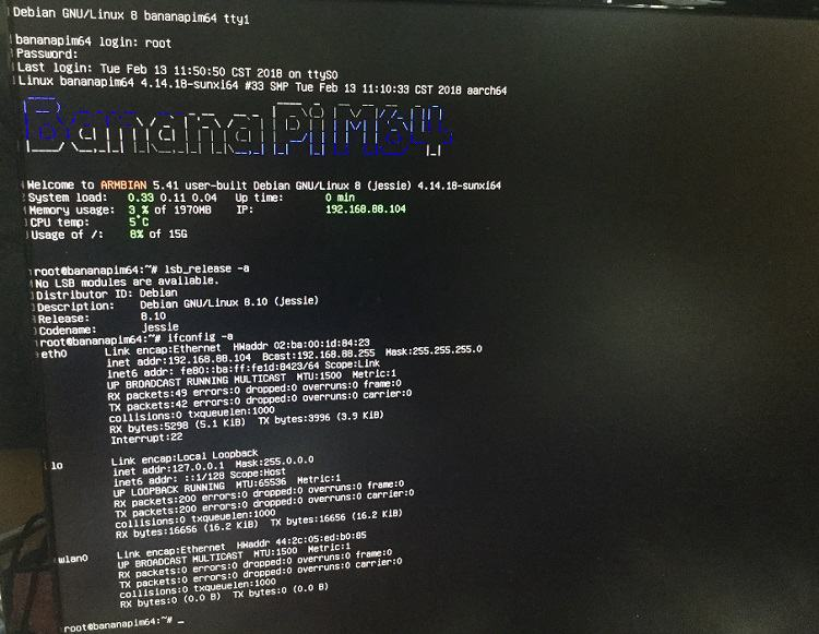 M64 support armbian compile mainline linux code fixed gmac issue