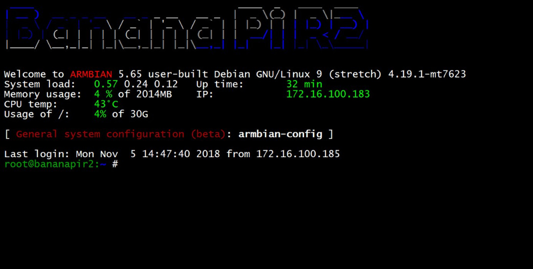 BPI-R2 new image : Armbian with kernel 4 19 y 2018-11-5,support by